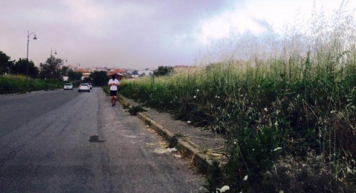 Un marciapiede a Vibo
