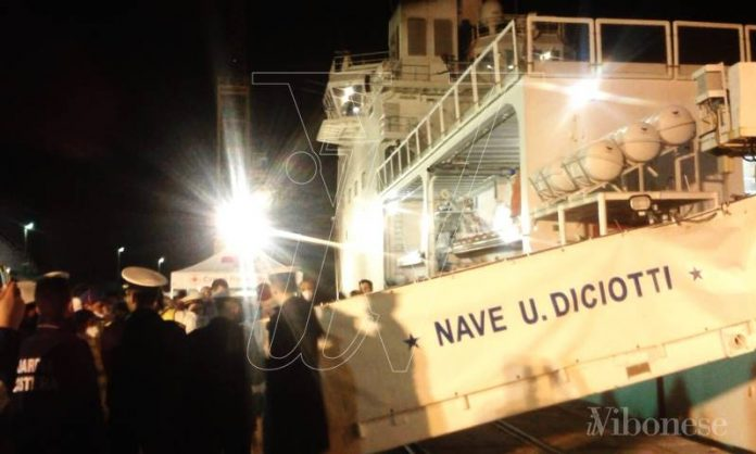 Un precedente sbarco della nave Diciotti