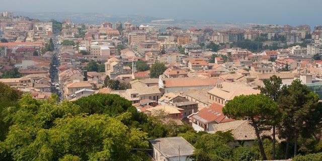 Un panorama della città di Vibo
