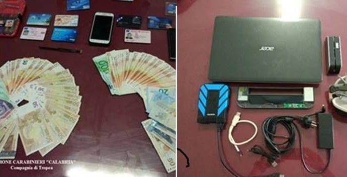 Usavano finto bancomat per clonare carte, due arresti a Ricadi