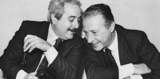 Una celebre immagine di Falcone e Borsellino