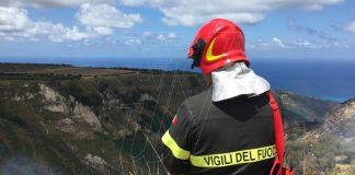 Un intervento dei Vigili del fuoco nel Vibonese