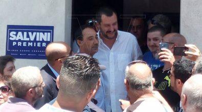 Salvini in tour nel Vibonese: «L'Italia non diventi un campo profughi»