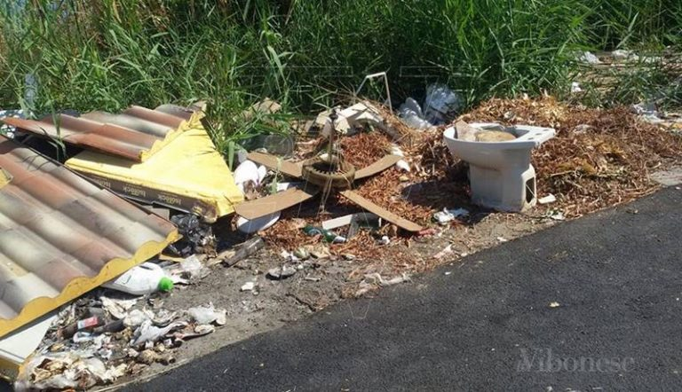 Rifiuti abbandonati a Briatico, il sindaco Niglia: «Abusi intollerabili»