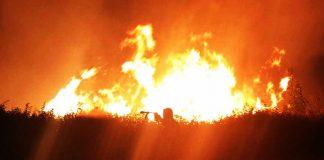 Un incendio nel Vibonese
