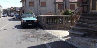 Il luogo di una delle intimidazioni a Fabrizia