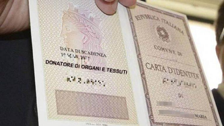 Cessaniti, il consenso per la donazione degli organi passa dalla carta identità