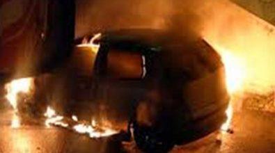 Auto rubata a Vibo trovata in fiamme a Sorianello
