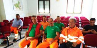 I lavoratori al Comune di Mileto