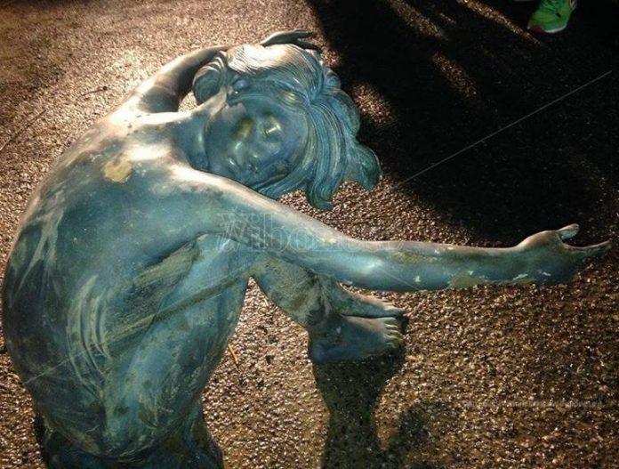La scultura ritrovata all'Angitola