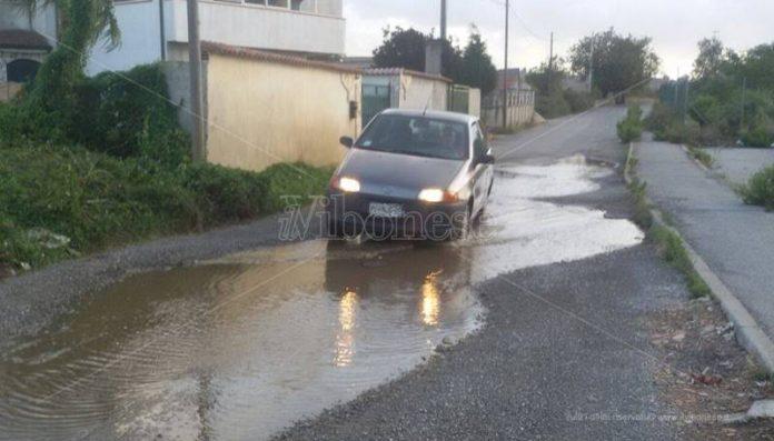 La strada di località Castelluccio a Sant'Onofrio