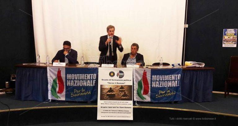 Alemanno inaugura a Vibo la scuola politica del Movimento per la sovranità (VIDEO)