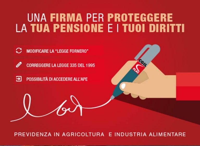 Previdenza in agricoltura e nell'industria alimentare: firme per proteggere la pensione