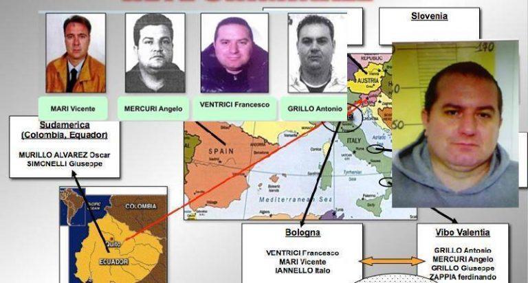 Narcotraffico internazionale: dieci condanne per il gruppo del vibonese Ventrici