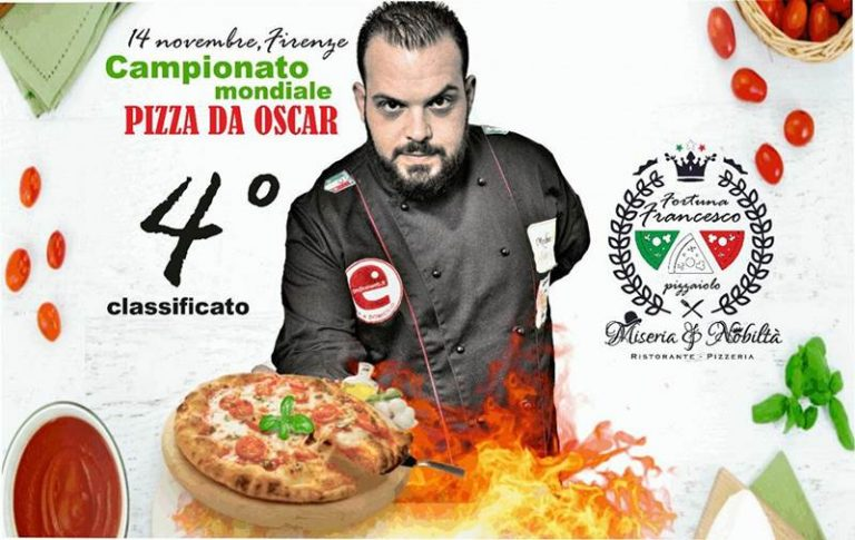 Pizza da Oscar: al campionato mondiale il vibonese Fortuna si classifica al quarto posto