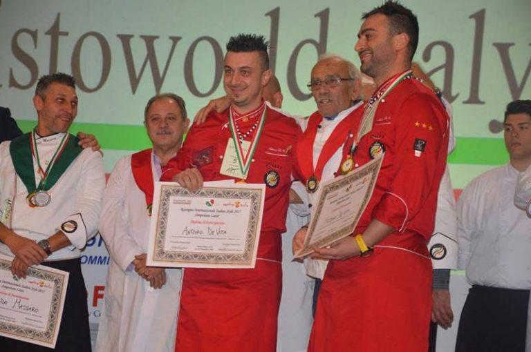 I tropeani Massimo e Antonio De Vita si aggiudicano la medaglia d'oro nell'Intaglio gastronomico
