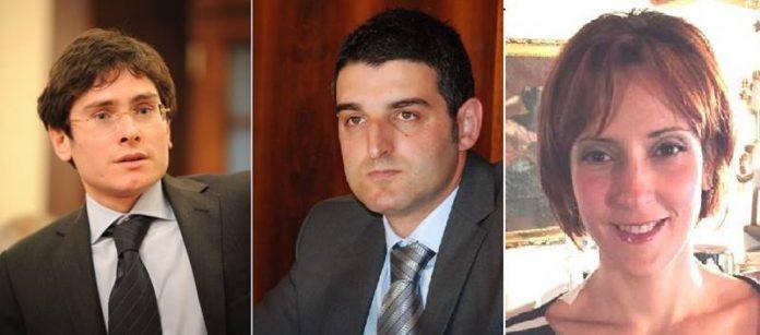 Da sinistra Luciano, De Nisi, Scrugli
