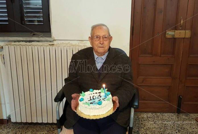 """""""Zio Ciccio"""" Solano nel suo 103esimo compleanno"""