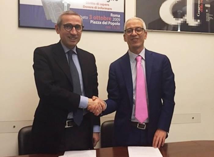 Giornalismo, firmato a Roma il patto di alleanza tra Cisal e Federazione della stampa