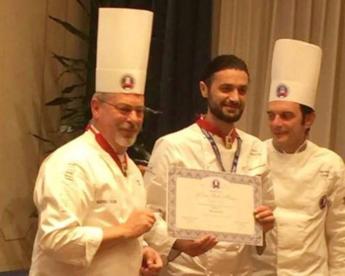 Lo chef Giulio Maccarone premiato a Trento