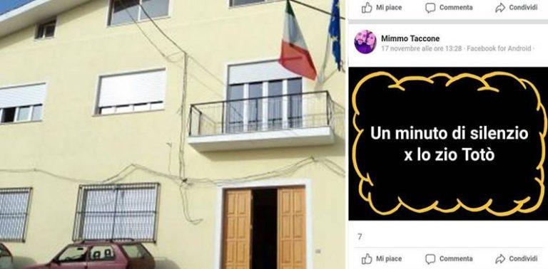 """Muore Totò Riina e nel Vibonese un consigliere chiede su facebook un minuto di silenzio per """"zio Totò"""""""