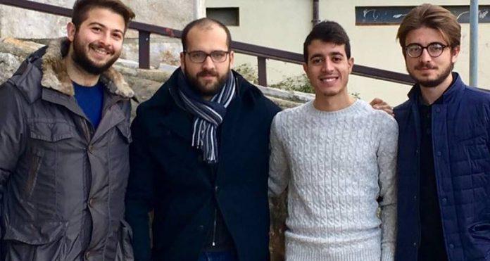 Da sinistra Borello, Lo Bianco, Piccolo e Losiggio
