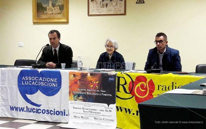 """L'iniziativa di Sant'Onofrio sul """"fine vita"""""""