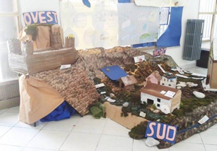 Il plastico realizzato dagli alunni