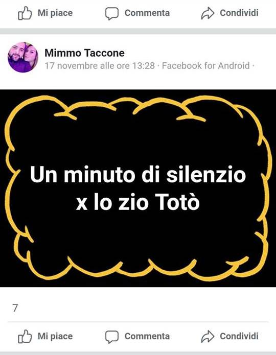 """""""Un minuto di silenzio per Riina"""", la replica di Taccone: """"Era una frase ironica"""""""