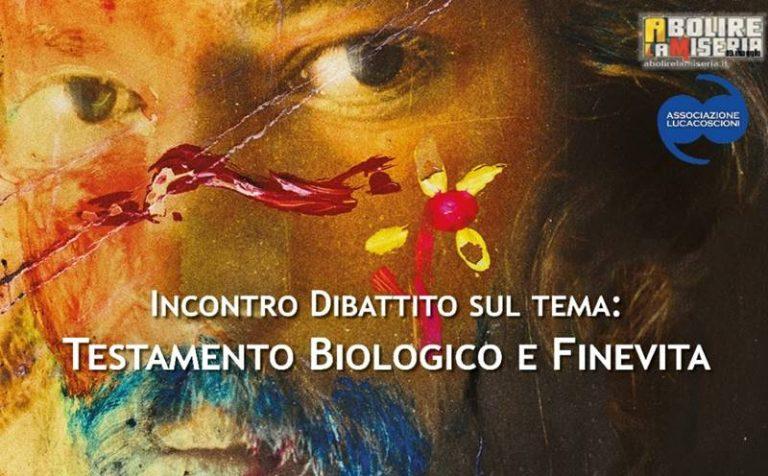 """""""Fine vita"""" e testamento biologico, Mina Welby ne parla a Sant'Onofrio"""