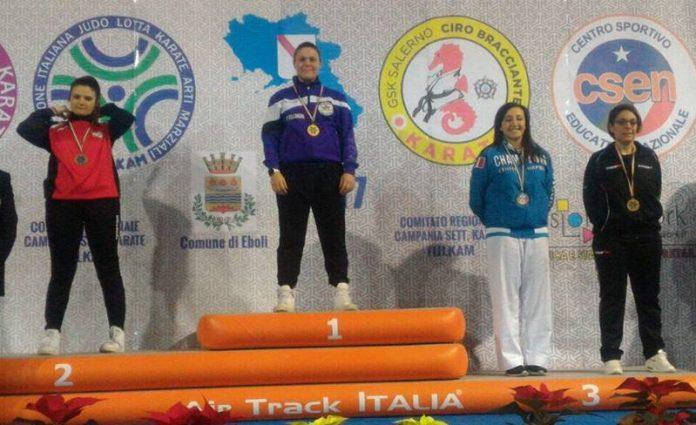 Viola Zangara sul gradino più alto del podio