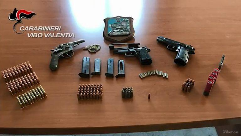 Detenzione abusiva di armi e munizioni, un arresto e una denuncia a Vibo (VIDEO)