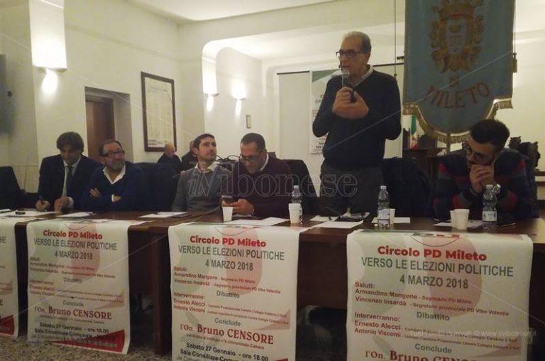 Mileto, prima uscita dei candidati Pd alle Politiche: «Noi unica forza di governo credibile»