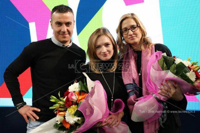 Da sinistra Pietro Comito, Cristina Iannuzzi e Maria Grazia Falduto