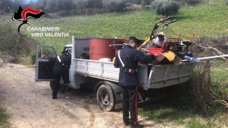 Furto nella notte a San Calogero, i carabinieri ritrovano parte della refurtiva