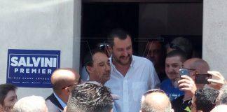 Matteo Salvini in una recente visita a Vibo