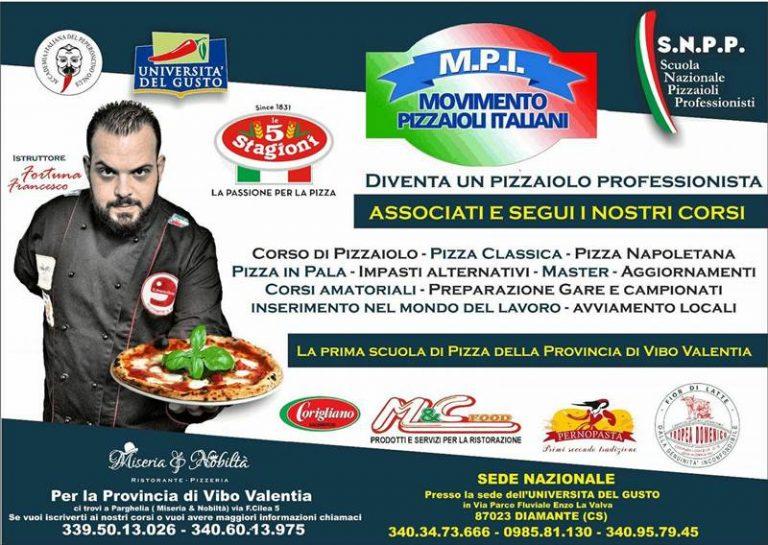 Scuola nazionale pizzaioli professionisti a Parghelia: arriva il riconoscimento ufficiale