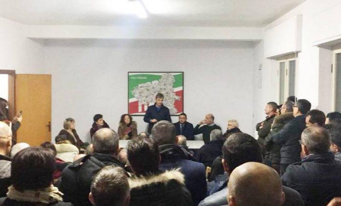 La riunione che ha aperto la campagna elettorale di Mangialavori a Vibo