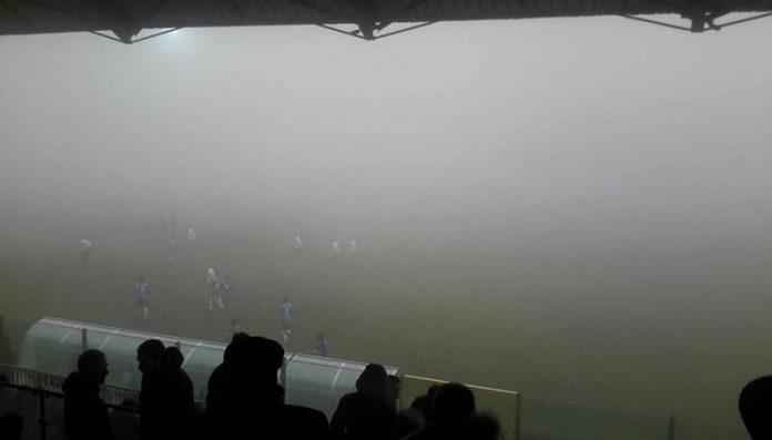 Nebbia fitta al Luigi Razza