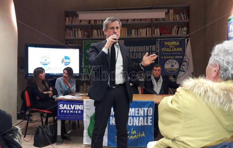 Politiche 2018 | Alemanno a Vibo: «Con Salvini per ridare un ruolo al Paese» (VIDEO)