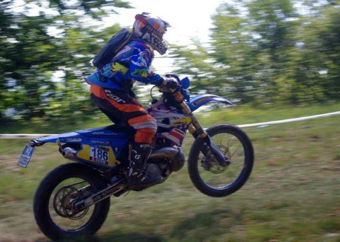 Bruno Tassone in sella alla sua moto