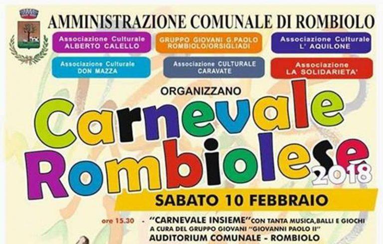 Carnevale 2018 | A Rombiolo tutto pronto per una festa all'insegna dell'unità