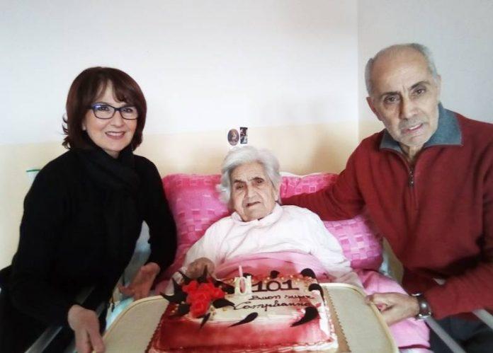 Nonna Cattolica con il figlio Pasquale e la nuora