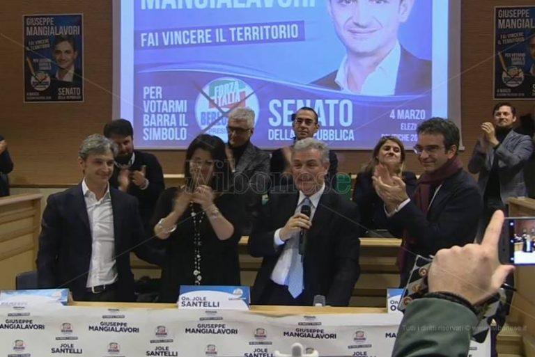 Politiche 2018 | L'abbraccio di Vibo a Mangialavori: «Da qui nascerà la nuova destra calabrese» (VIDEO)