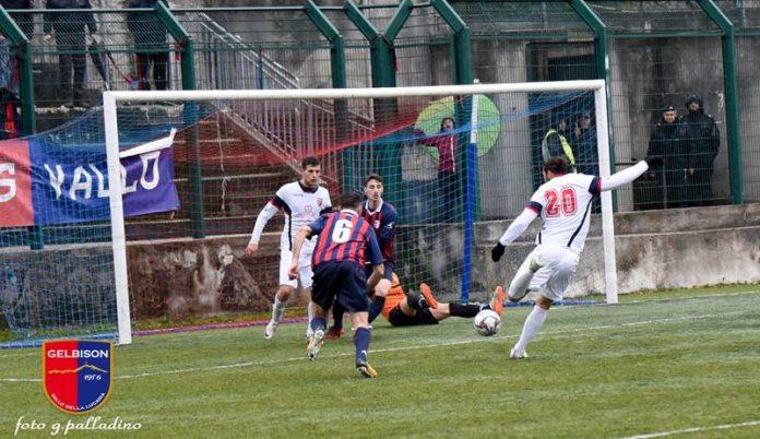 Il gol del pareggio di De Luca (foto Palladino)