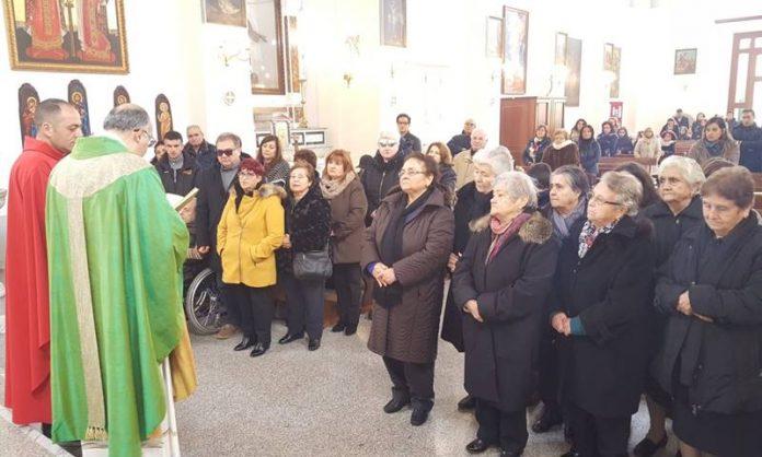 La messa celebrata a San Costantino