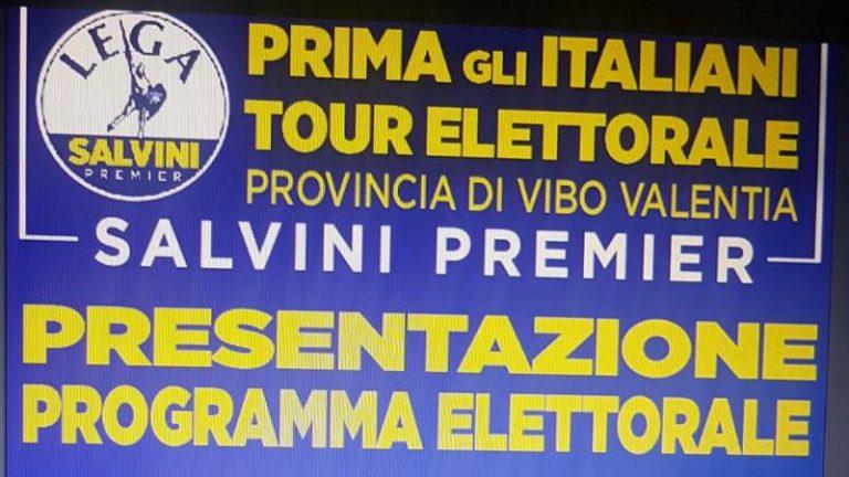 Politiche 2018 | La Lega Salvini premier si dà appuntamento a Vibo Marina