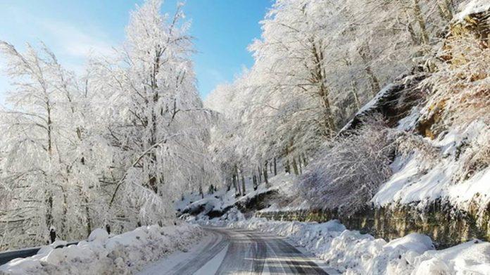 La strada per Monte Pecoraro stamattina