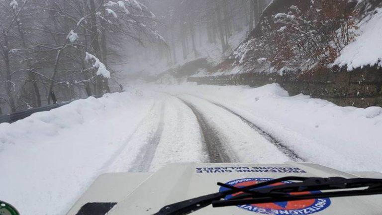 Il maltempo sferza il Vibonese: ancora strade chiuse per frana, prevista neve a bassa quota