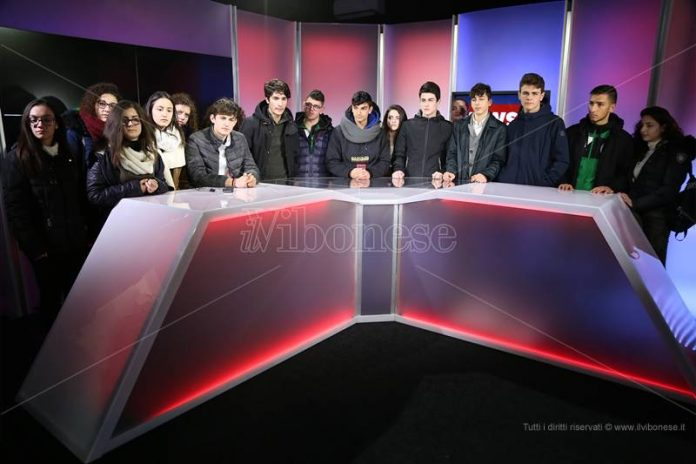 Gli studenti di Tropea negli studi tv